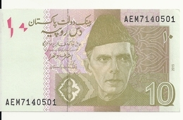 PAKISTAN 10 RUPEES 2015 UNC P 45 J - Pakistan