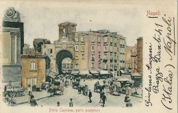NAPOLI PORTA CAPUANA 1901 ANIMATA - Napoli