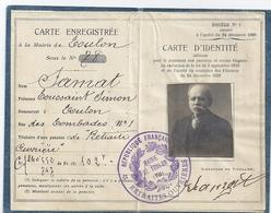 CARTE D'IDENTITE TOULON VAR N°78- - Maps