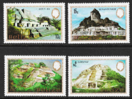 Belize - Scott #680-83 MNH (2) - Mayan Monuments - Belize (1973-...)