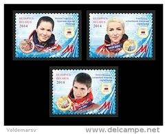 Belarus 2014 Mih. 1013/15 Medal Winners Of Olympic Winter Games In Sochi. Biathlon. Freestyle MNH ** - Belarus