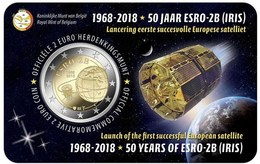 Bélgica 2euro Cc - 50ª Aniv. Satélite ESRO 2B - 2018 Nova - Belgique
