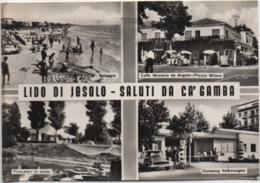 Lido Di Jesolo (Venezia): Saluti Da Ca' Gamba. Viaggiata 1961 - Venezia (Venice)