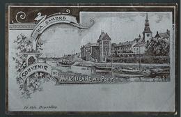 MARCHIENNE - AU - PONT. La Sambre. Carte à Effet Métallisé.  Nels Art- Nouveau. - Charleroi