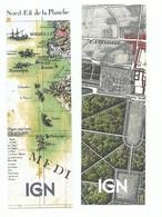 Lot De 2 Marque Page Cartothèque I G N Carte De Cassini Et Carte Aquarellée - Bookmarks