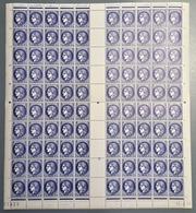 FRANCE 1938 - FEUILLE DE 100 TP / Y.T. N° 375a - NEUFS** - Feuilles Complètes