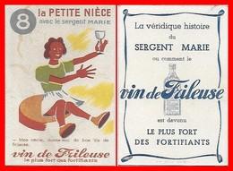 CHROMOS. Vin De FRILEUSE.   La Petite Nièce Avec Le Sergent Marie...H470 - Cromo