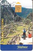 PERU - Machu Picchu(glossy Surface), Telefonica Telecard, Chip GEM1.2, Tirage 50000, 08/99, Used - Peru