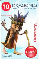PERU - Dragones/Chulla Chaqui, Claro Recharge Card S/.10, Exp.date 23/05/11, Used - Peru