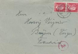 LSC 1942 - Enveloppe Pour La France - Cachet Haslach Im Kinzigtal Sur Timbres Hitler Et Cachet Ae - Germany