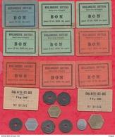 France 10 Tickets De Pain Et 9 Jetons (5 Jetons Belge) Dans L 'état - Bonds & Basic Needs