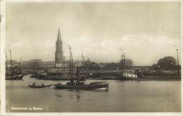 EMMERICH, Rhein Panorama Mit Schiffe (1930s) AK - Emmerich
