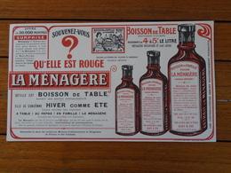 BUVARD / LA MENAGERE, BOISSON DE TABLE - GRAND FORMAT - GRAND FORMAT - Blotters