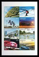 Azerbaïjan 2017 Mih. 1315/22 Sport. Skiing. Stadiums. Cycling. Rowing MNH ** - Azerbaïjan