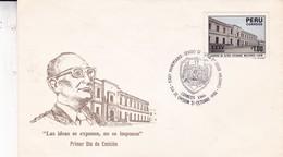 FDC.XXXV ANIVERSARIO CENTRO DE ALTOS ESTUDIOS MILITARES. OBLIT 1986. PERU - BLEUP - Perú
