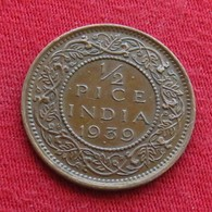 British India 1/2 Half Pice 1939 (b) KM# 528   Inde Indie Indien - India