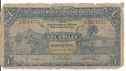 TRINIDAD ET TOBAGO 1 DOLLAR 1939 G/VG P 5 B - Trinité & Tobago