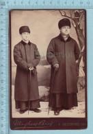 Photo CDV - Deux Pretres Posanrt Dans Le Studio Maheux Bros. Sherbrooke Quebec C;1890 - Photographs