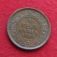 British India 1/2 Half Pice 1933 KM# 510 RARE   Inde Indie Indien - Inde