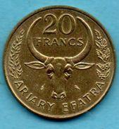 T1/ MADAGASCAR 20 Francs 1970 FAO - Madagascar