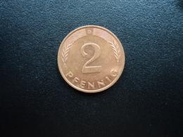 RÉPUBLIQUE FÉDÉRALE ALLEMANDE : 2 PFENNIG   1994 D     KM 106a      SUP+ - [ 7] 1949-… : FRG - Fed. Rep. Germany