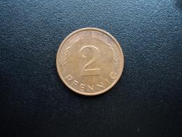 RÉPUBLIQUE FÉDÉRALE ALLEMANDE : 2 PFENNIG   1994 J     KM 106a      SUP * - [ 7] 1949-… : FRG - Fed. Rep. Germany
