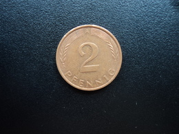 RÉPUBLIQUE FÉDÉRALE ALLEMANDE : 2 PFENNIG   1995 A     KM 106a      SUP - [ 7] 1949-… : FRG - Fed. Rep. Germany