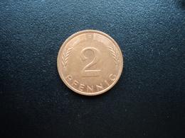 RÉPUBLIQUE FÉDÉRALE ALLEMANDE : 2 PFENNIG   1995 D     KM 106a      SUP - [ 7] 1949-… : FRG - Fed. Rep. Germany