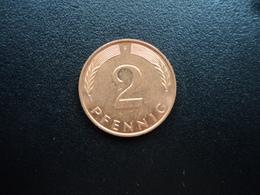 RÉPUBLIQUE FÉDÉRALE ALLEMANDE : 2 PFENNIG   1995 F     KM 106a      SUP+ - [ 7] 1949-… : FRG - Fed. Rep. Germany