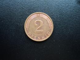 RÉPUBLIQUE FÉDÉRALE ALLEMANDE : 2 PFENNIG   1996 A     KM 106a      SUP+ - [ 7] 1949-… : FRG - Fed. Rep. Germany