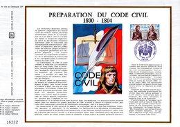 """Feuillet CEF 1er Jour De 1973 """" PREPARATION DU CODE CIVIL / NAPOLEON """" N° YT 17748. Parfait état. - Napoleon"""