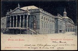 AK Berlin Opernhaus Mit Gold-Glitzer   (8531 - Ohne Zuordnung