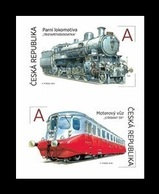 Czech Republic 2018 Mih. 994/95 Locomotives 365 And Silver Arrow MNH ** - Czech Republic