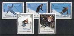 Fujeira 1972 Mi#1338-1342 Winter Olympics Innsbruck CTO - Fujeira