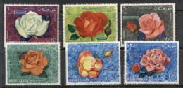 Khor Fakkan 1966 Mi#54-59 Flowers, Roses MUH - Khor Fakkan