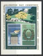 Khor Fakkan 1966 Mi#MS4A JFK Kennedy 3rd Death Anniv MS MUH - Khor Fakkan