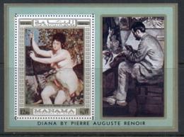Manama 1970 Mi#MS60A Nude Paintings By Renoir, Diana MS MUH - Manama