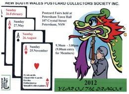 (515) Australia - NSW Postcard Sociaty 2012 - Playing Cards - Dragon - Cartes à Jouer