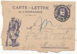"""Carte Lettre De L'Espérance - """"Un Brave Poilu"""" + Portrait De Joffre - Secteur 177 - 1916 - Marcofilia (sobres)"""