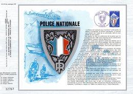 """""""  POLICE NATIONALE """" Sur Feuillet CEF 1er Jour De 1976 N° YT 1907. Parfait état. - Police - Gendarmerie"""