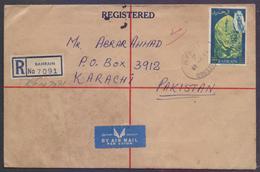 BAHRAIN Postal History Cover, Registered Letter Used 28.5.1968 - Bahrain (1965-...)