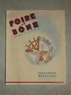 ALGER 1949 Foire De BONE Programme Catalogue Pub Tracteur Renault Ferguson MAP & Divers - Société Algérienne MAMICO ... - Programs