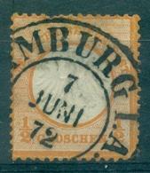 ALLEMAGNE EMPIRE N°3a ORANGE OB Hambourg 7.6.1872. Bien Cote 60 € - Allemagne