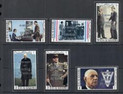 Ras Al Khaima 1972 Mi#677-682 Charles De Gaulle Opt In Memoriam MUH - Ras Al-Khaima