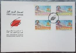 HX - Bahrain 1992 FDC - Doha Intnl Airport - Plane - Bahrain (1965-...)