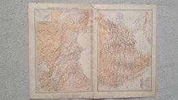 CARTE AMERIQUE DU NORD ETATS UNIS ET CANADA RECOTO VERSO IMP LEMERCIER  42 X 31 CM - Geographical Maps