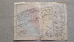 CARTE  ALGERIE ET COLONIES FRANCAISES PAR DRIOUX ET LEROY 47 X 33 CM - Cartes Géographiques