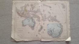 CARTE  OCEANIE  PAR DRIOUX ET LEROY 47 X 33 CM - Cartes Géographiques