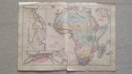 CARTE  AFRIQUE EGYPTE  PAR DRIOUX ET LEROY 47 X 33 CM - Cartes Géographiques