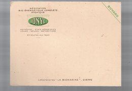Dieppe (76 Seine Maritime) Buvard IONYL (pharmacie)  (PPP9218) - Chemist's